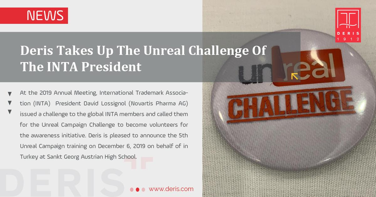 Deris Takes Up The Unreal Challenge Of The INTA President