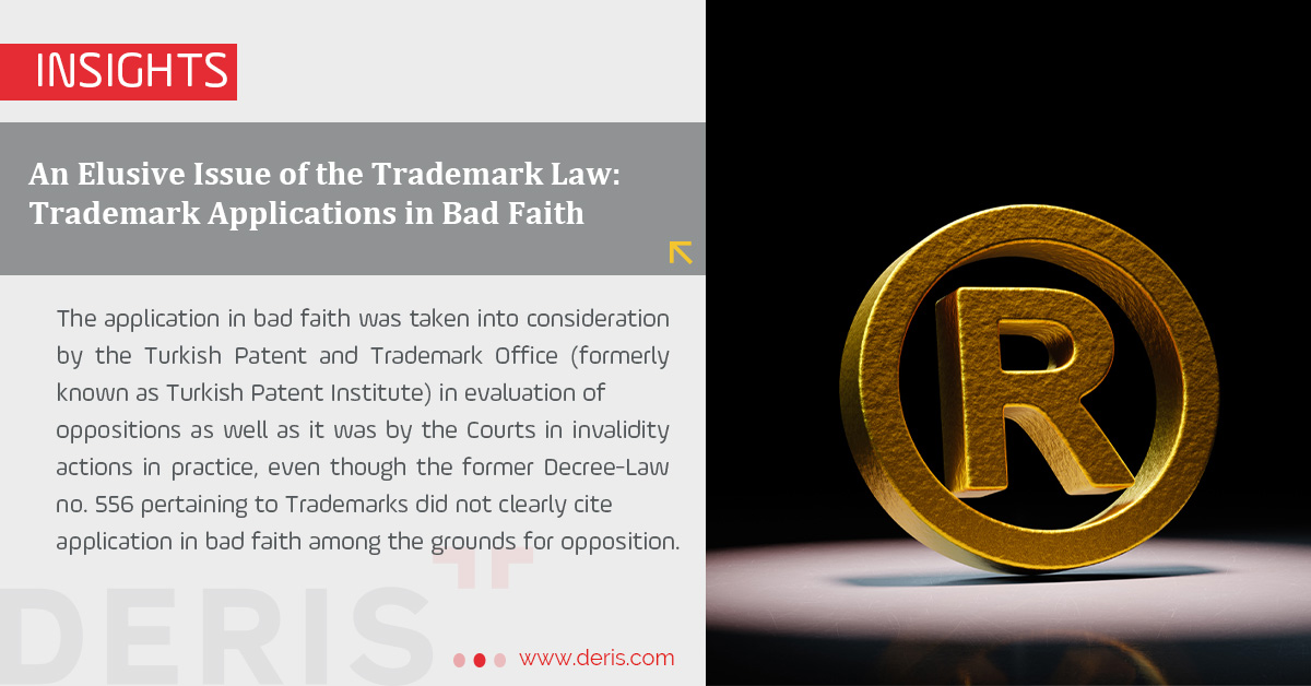 Trademark Applications in Bad Faith