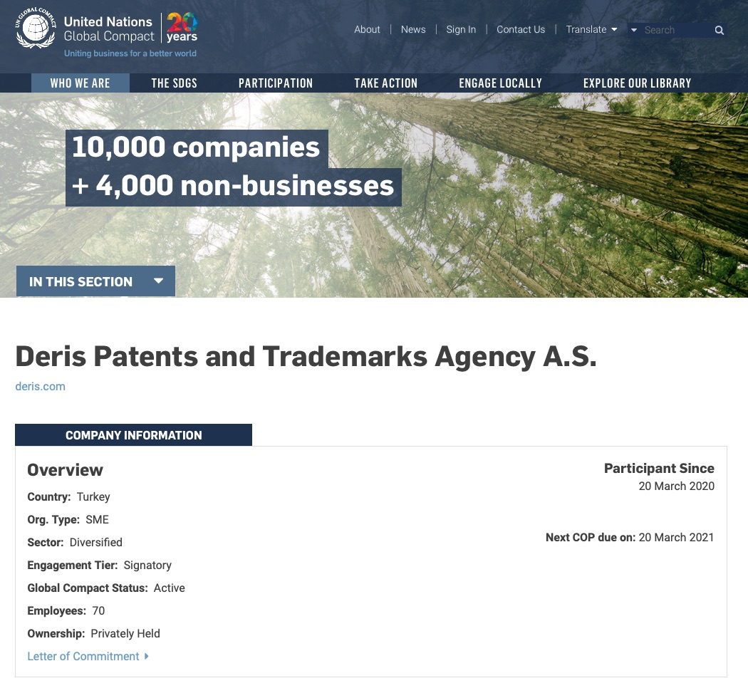 deris joins the global compact
