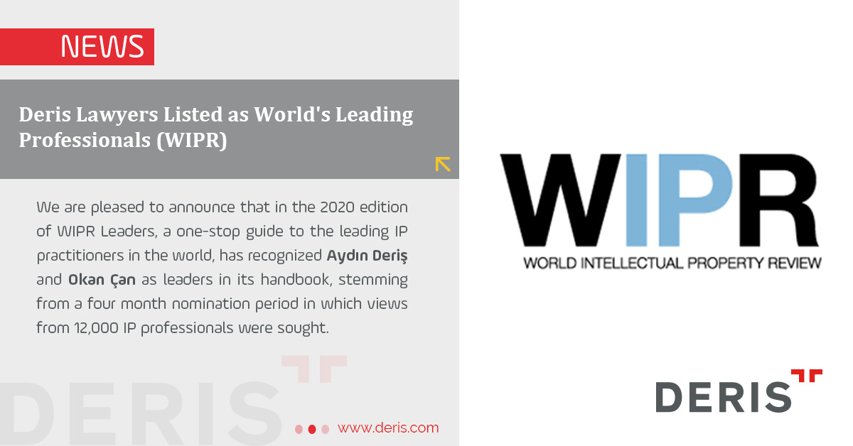 Deris Lawyers Listed as World's Leading Professionals (WIPR)