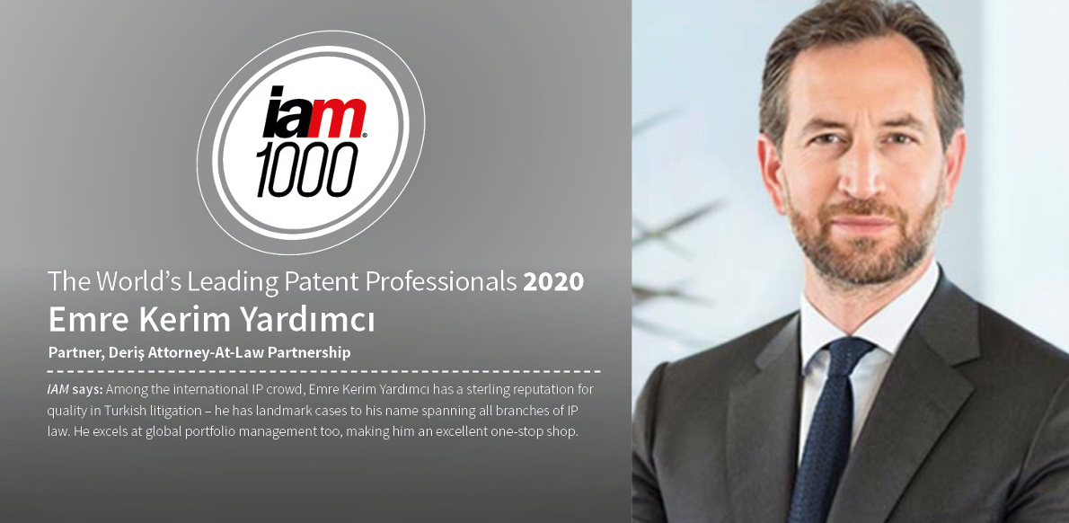 "Kerim Yardımcı named as ""The World's Leading Patent Professional"" by IAM Patent 100"
