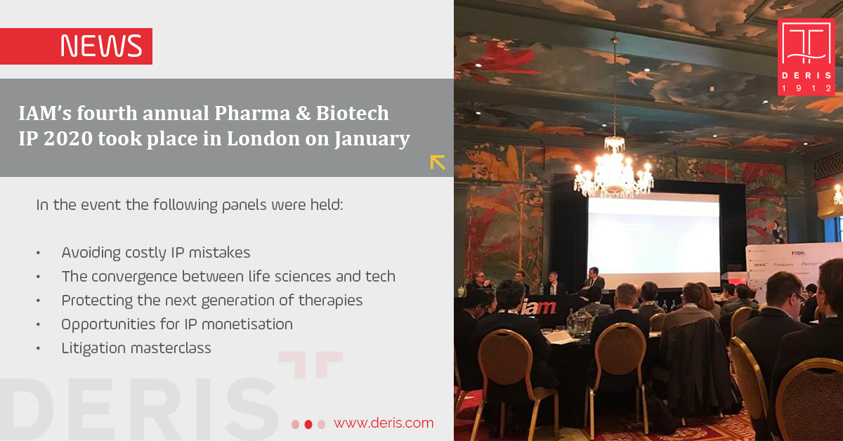 IAM's fourth annual Pharma & Biotech IP 2020 took place in London