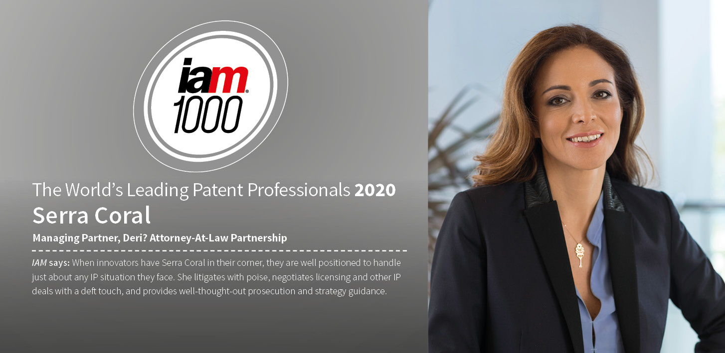 "Serra Coral named as ""The World's Leading Patent Professional"" by IAM Patent 100"