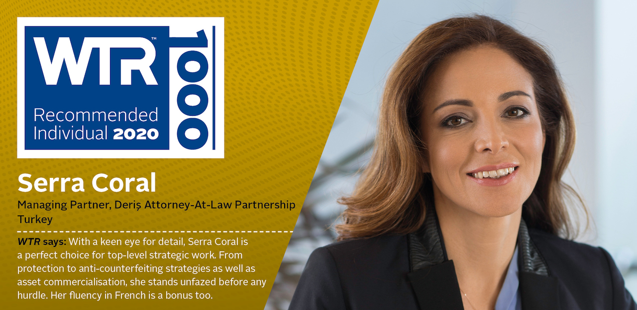 Serra Coral named as a WTR 1000 IP Lawyer in Turkey
