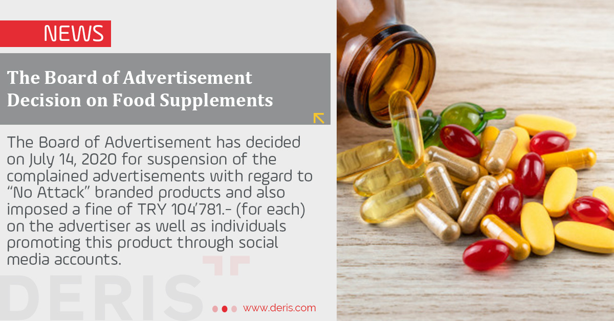 The Board of Advertisement Decision on Food Supplements