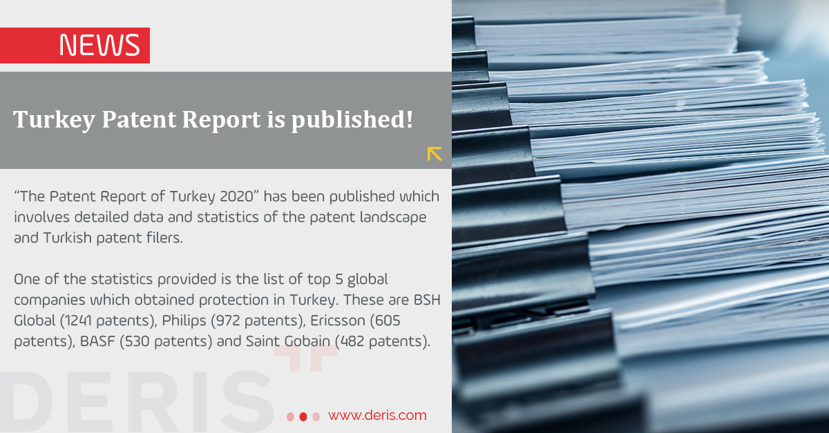 Turkey Patent Report is Published!