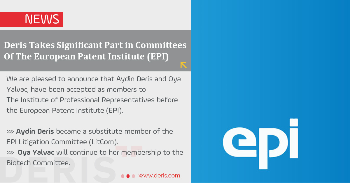 Deris Takes Significant Part in Committees Of The European Patent Institute (EPI)