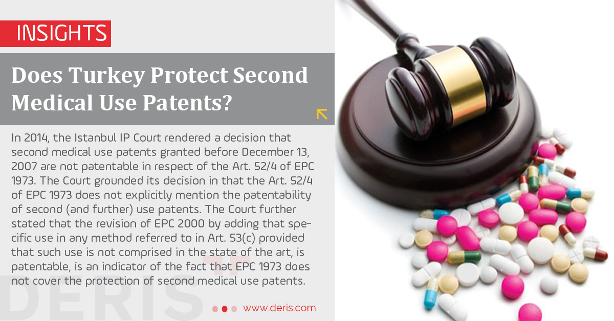 Does Turkey Protect Second Medical Use Patents?