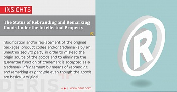 The Status of Rebranding and Remarking Goods Under the Intellectual Property Code